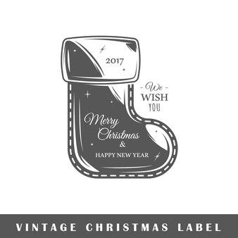 Рождественские этикетки, изолированные на белом фоне