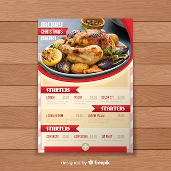 Christmas label menu template