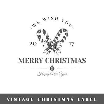 白い背景の上のクリスマスラベル。素子。ロゴ、看板、ブランディングのテンプレートです。図