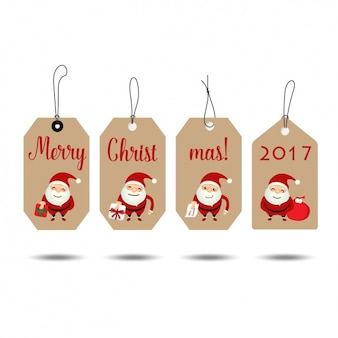 クリスマスのラベルコレクション