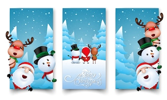 Christmas labels design