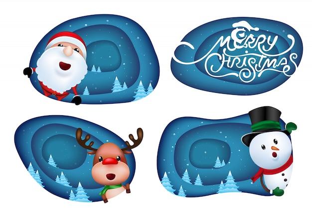 Christmas labels design