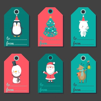 Christmas labels for presents.