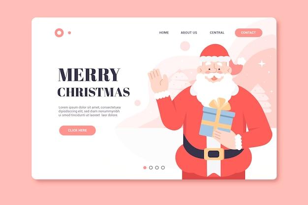 Christmas landing page with santa