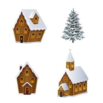 クリスマスの風景イラスト