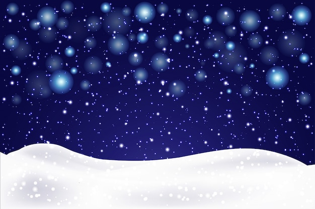 Christmas landscape with falling snowflakes. snow background. realistic snowdrift .  illustration.