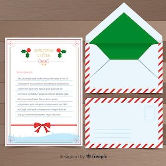Lettera di natale e busta