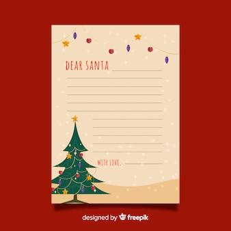 Christmas letter in flat design