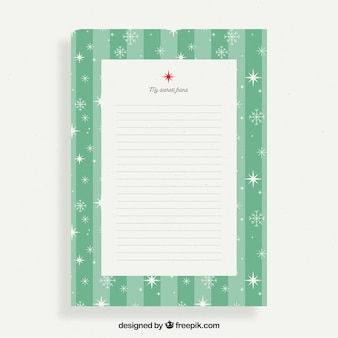 Christmas letter to a friend in a green frame