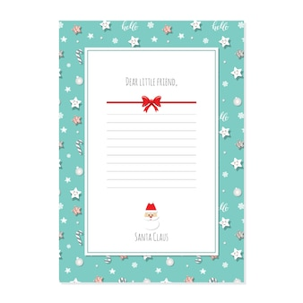 Christmas letter from santa claus template a4.