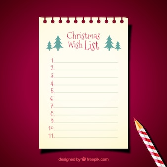 Christmas letter template with pencil