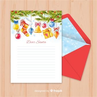 Рождественский шаблон письма