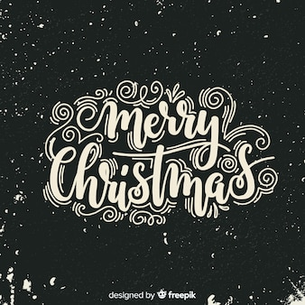 Christmas lettering background