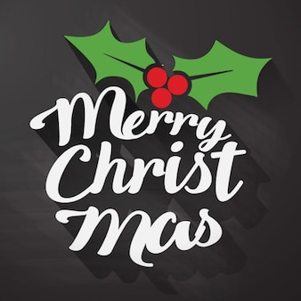Christmas lettering on a black background