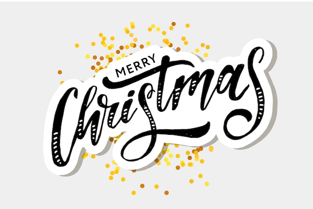 Christmas lettering calligraphy