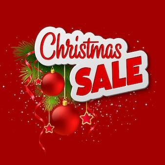 Biglietto natalizio con agrifoglio e ramo di abete. illustrazione vettoriale eps 10