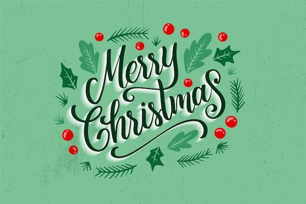 Christmas lettering on christmas photo