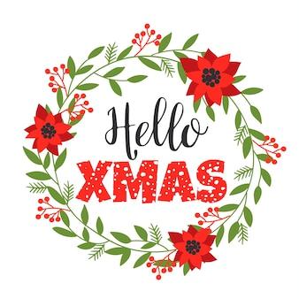 Christmas lettering designs. vector elements
