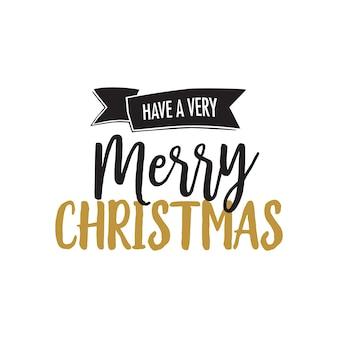黒と金色のクリスマスレタリング