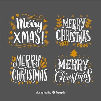 クリスマスレタリングラベルコレクション