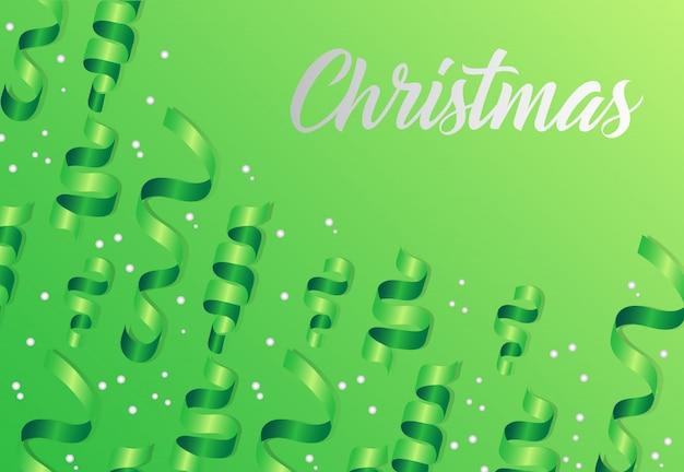 깃발 녹색 배경에 크리스마스 글자