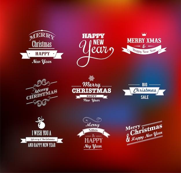 Рождественский набор надписи