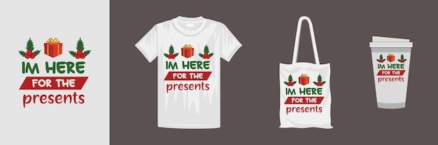 クリスマスレタリングtシャツのデザイン。 tシャツ、マグカップ、ギフト、その他の印刷に適しています。