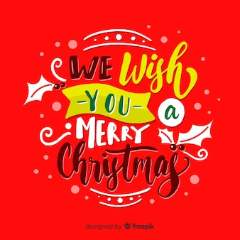 Christmas lettering we wish you a merry christmas