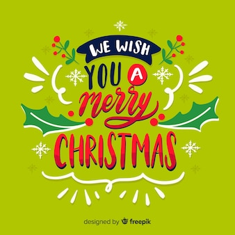 Christmas lettering wish a merry xmas