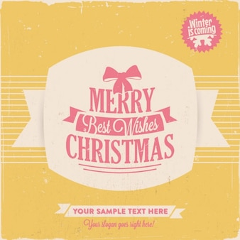 Christmas lettering with a yellow background