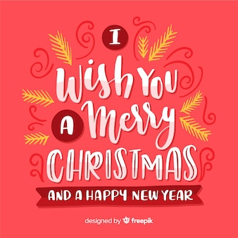 Christmas lettering with greeting