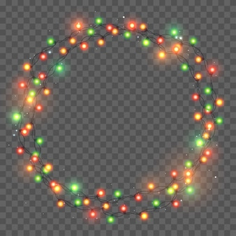 Christmas light. bright color garland. decor for party, festive or birthday celebration.