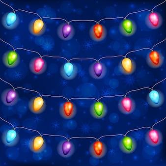 Рождественские гирлянды из лампочек