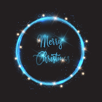 크리스마스 조명 배경