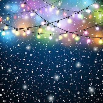 Рождественские огни фон.