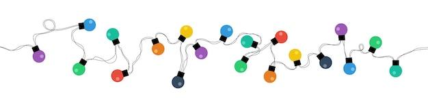 白で隔離のクリスマスライト電球