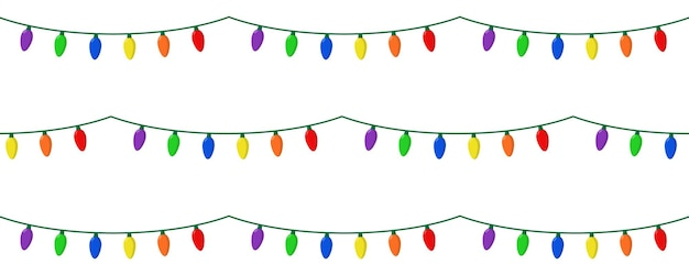Christmas lights of different colors
