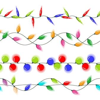 Christmas lights horizontal seamless
