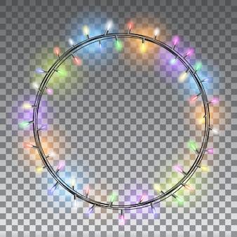 Рождественские огни изолированные элементы дизайна