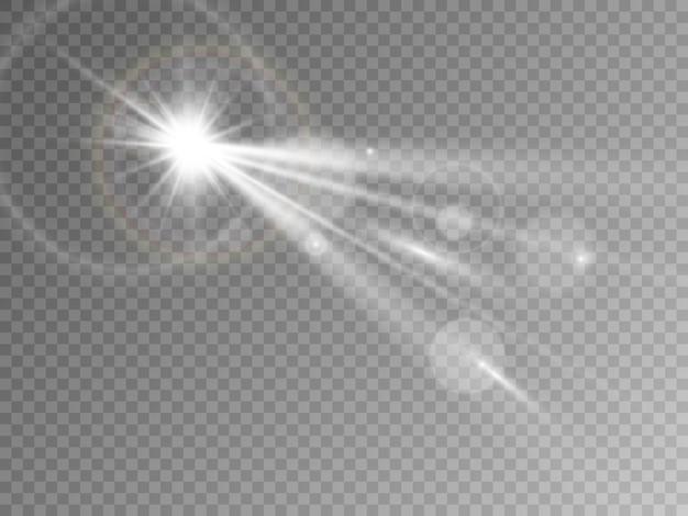 투명 한 배경에 고립 된 크리스마스 조명입니다. 삽화.