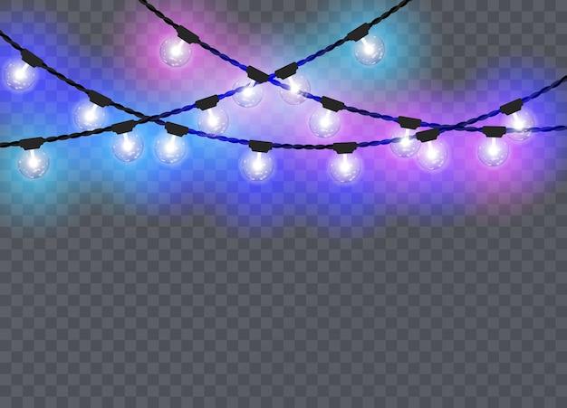 Рождественские огни, изолированные на прозрачный
