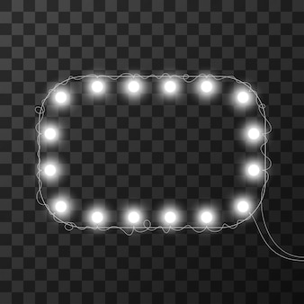 Christmas lights isolated on transparent background,