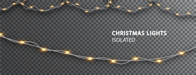 크리스마스 조명 절연입니다. 크리스마스 장식 빛나는 화환.