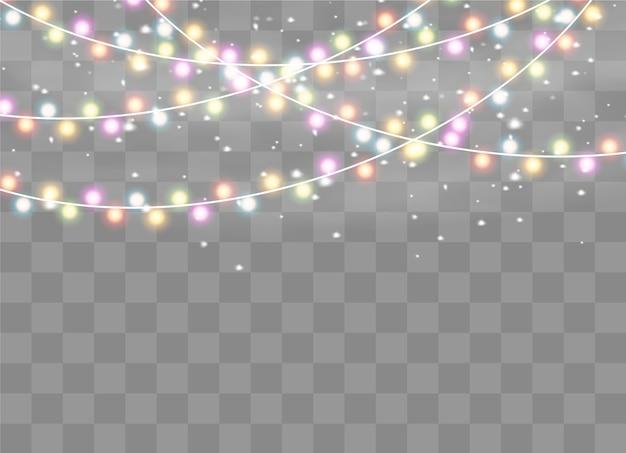 고립 된 크리스마스 불빛