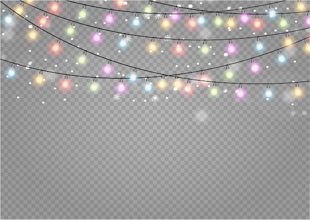 Рождественские огни изолированные