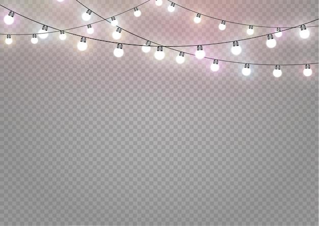 隔離されたクリスマスライト