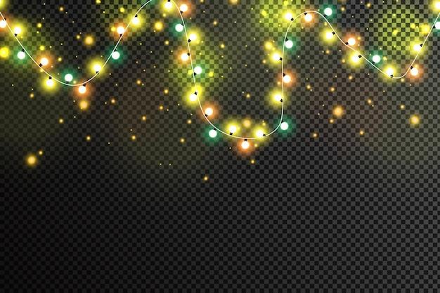 Christmas lights isolated
