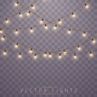 Christmas lights. led neon lamp. glowing lights.