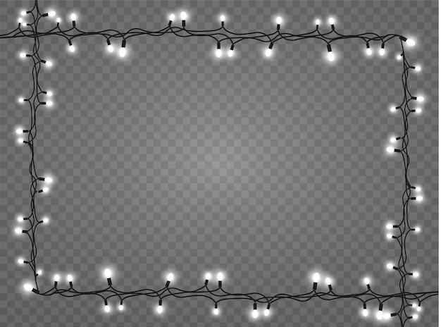クリスマスライトのリアルなデザイン要素