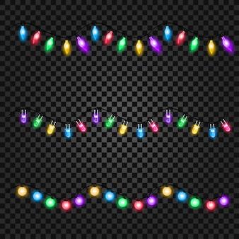 Christmas lights. set of templates